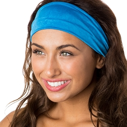 Hipsy Unisex Adjustable Spandex Xflex Crushed Blue Headband