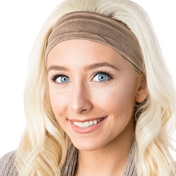 Hipsy Unisex Adjustable Spandex Xflex Crushed Taupe Headband