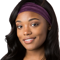 Hipsy Unisex Adjustable Spandex Xflex Crushed Plum Headband