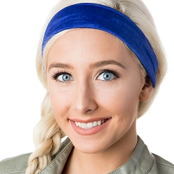 Hipsy Unisex Adjustable Spandex Xflex Crushed Royal Blue Headband