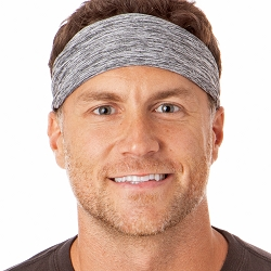 Hipsy Unisex Adjustable Spandex Xflex Heather Grey Headband