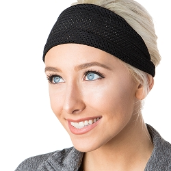 Hipsy Unisex Adjustable Spandex Xflex Jersey Black Headband