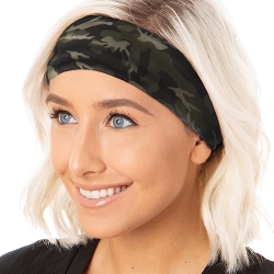 Hipsy Unisex Adjustable Spandex Xflex Soft Mini Camo Headband