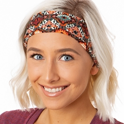 Hipsy Unisex Adjustable Spandex Xflex Soft Boho Brown Headband