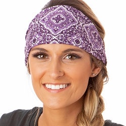 Hipsy Unisex Adjustable Spandex Xflex Soft Bandana Purple Headband