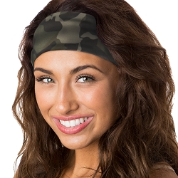 Hipsy Unisex Adjustable Spandex Xflex Soft Large Camo Headband