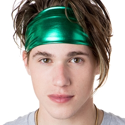 Hipsy Unisex Adjustable Spandex Xflex Metallic Green Headband