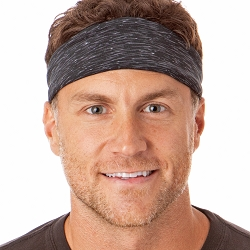Hipsy Unisex Adjustable Spandex Xflex Space Dye Black Headband