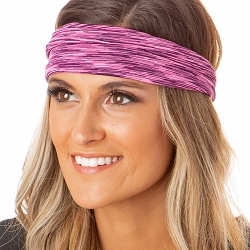 Hipsy Unisex Adjustable Spandex Xflex Space Dye Pink Headband