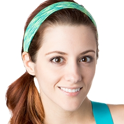 Hipsy Unisex Adjustable Spandex Xflex Space Dye Lime Headband