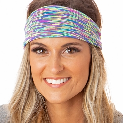 Hipsy Unisex Adjustable Spandex Xflex Space Dye Purple Multi Headband