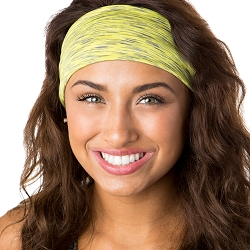 Hipsy Unisex Adjustable Spandex Xflex Space Dye Yellow Headband