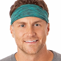 Hipsy Unisex Adjustable Spandex Xflex Space Dye Jade Headband