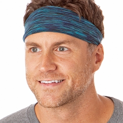 Hipsy Unisex Adjustable Spandex Xflex Space Dye Teal Headband