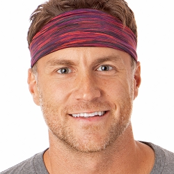 Hipsy Unisex Adjustable Spandex Xflex Space Dye Maroon Headband