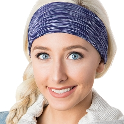 Hipsy Unisex Adjustable Spandex Xflex Space Dye Navy Headband