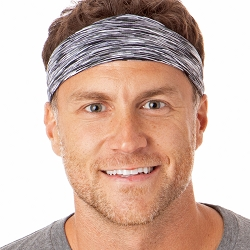 Hipsy Unisex Adjustable Spandex Xflex Space Dye Grey Headband