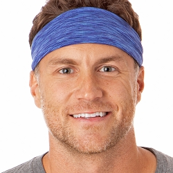 Hipsy Unisex Adjustable Spandex Xflex Space Dye Royal Blue Headband