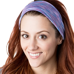 Hipsy Unisex Adjustable Spandex Xflex Space Dye Violet Headband