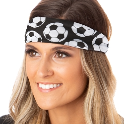 Hipsy Unisex Adjustable Spandex Xflex Soft Soccer Balls Black Headband