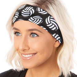 Hipsy Unisex Adjustable Spandex Xflex Soft Volleyball Black Headband