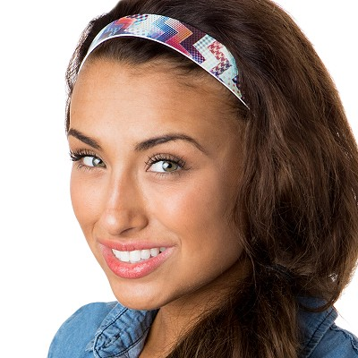 Hipsy Adjustable NO SLIP Patchwork Wide Non-Slip Headband