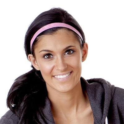 Hipsy Adjustable NO SLIP Geo Sport Pink Skinny Headband