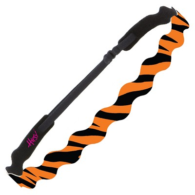 Hipsy Adjustable NO SLIP Bengal Tiger Black & Orange Wave Non-Slip Headband