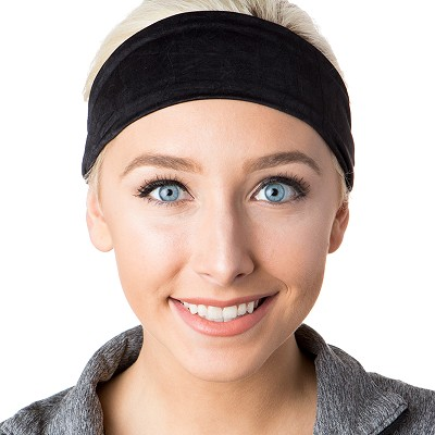 Hipsy Unisex Adjustable Spandex Xflex Crushed Black Headband