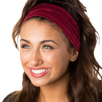 Hipsy Unisex Adjustable Spandex Xflex Crushed Burgundy Headband