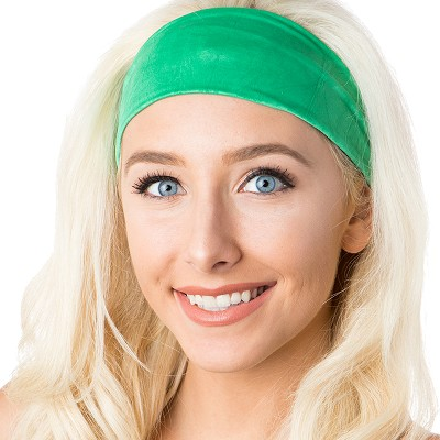 Hipsy Unisex Adjustable Spandex Xflex Crushed Green Headband
