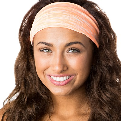 Hipsy Unisex Adjustable Spandex Xflex Space Dye Neon Orange Headband
