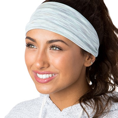 Hipsy Unisex Adjustable Spandex Xflex Space Dye Mint Headband